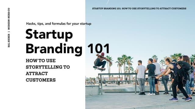 Startup Branding 101