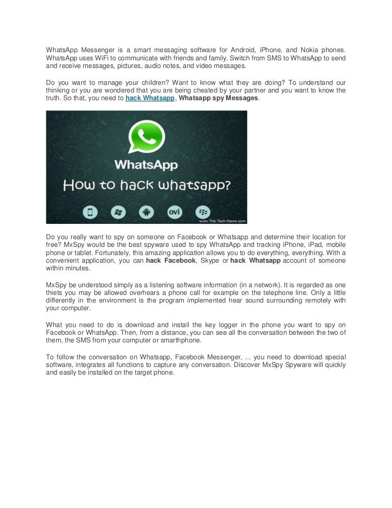 Hack whatsapp, hack facebook for free