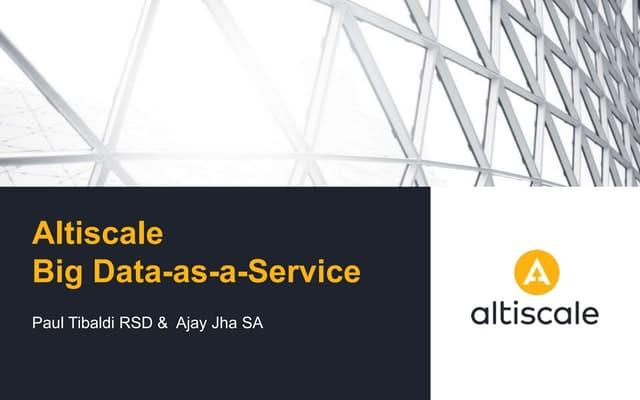 Hadoop Hadoop & Spark meetup - Altiscale