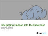 Integrating Hadoop Into the Enterprise – Hadoop Summit 2012