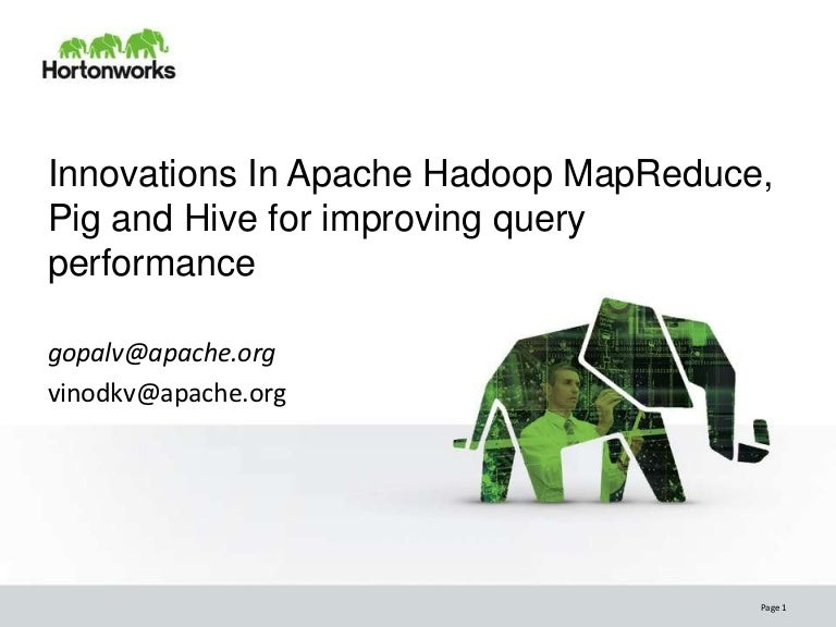 Innovations in Apache Hadoop MapReduce Pig Hive for Improving Query P…