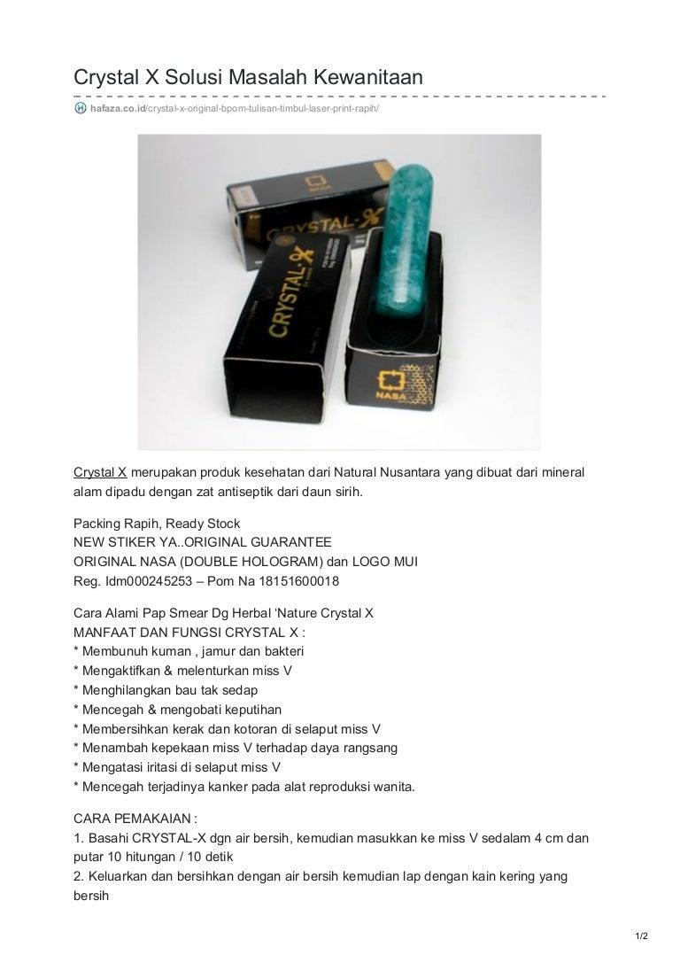 Hafazacoid Crystal X Solusi Masalah Kewanitaan Cristal Kristal Original Obat Herbal Keputihan