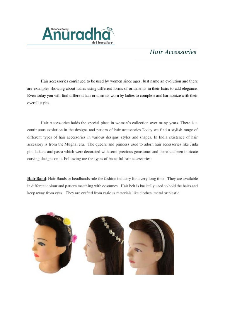 Designer Range Of Hair Jewellery Accessories Online