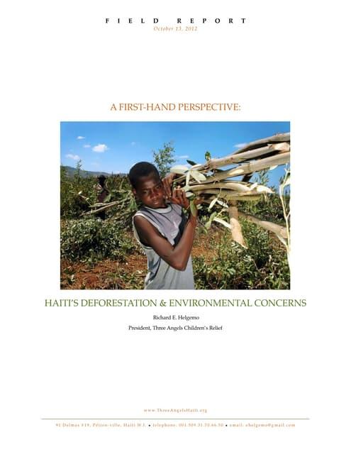 Haiti Deforestation - A Short Update