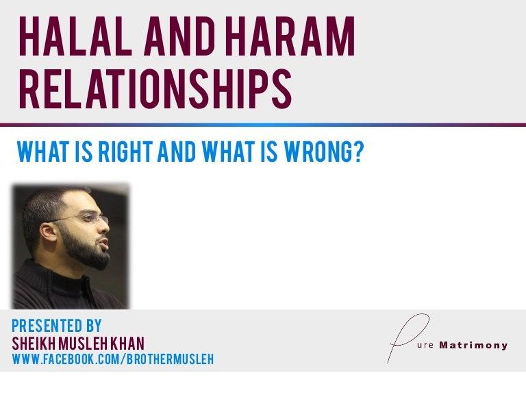 Halal and haram relationships