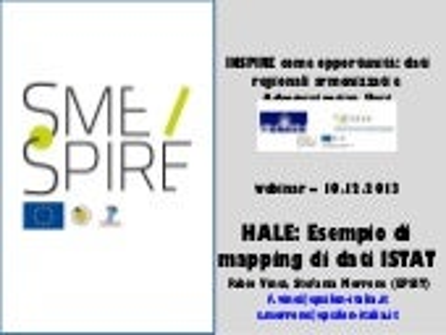 Hale esempio di mapping di dati istat