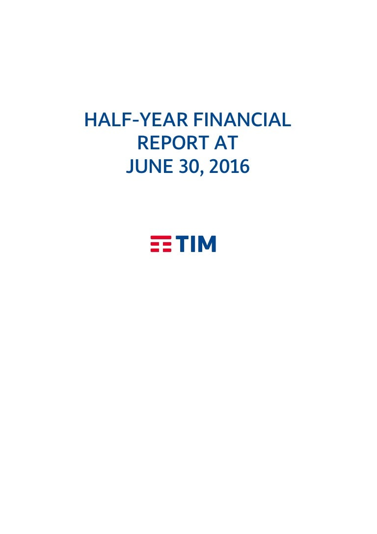 Tim half year financial report as of june 30 2016 falaconquin