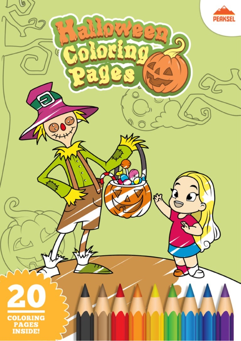 Halloween Coloring Pages - Printable Coloring Book for Kids