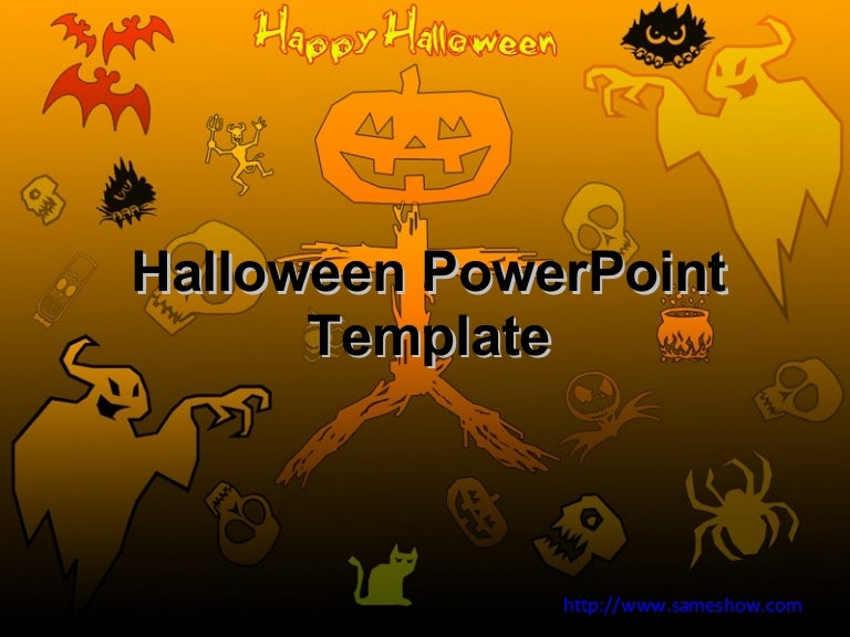 free halloween powerpoint template, Modern powerpoint