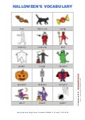 Halloween's vocabulary in color 1