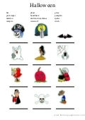 Halloween's vocabulary in color 3 activity