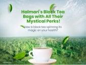 Halmari's Black Tea Bags with All Their Mystical Perks!