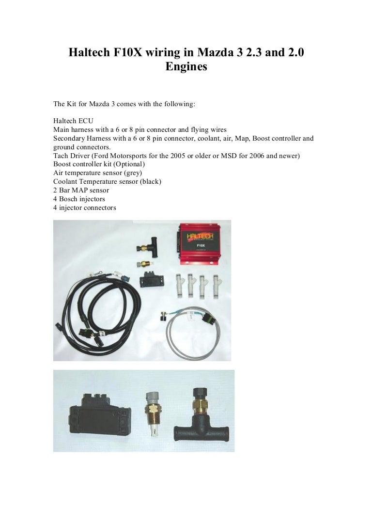 Haltech Mazda3 Bosch Tachometer Wiring