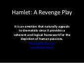 Hamlet as a Revenge Play