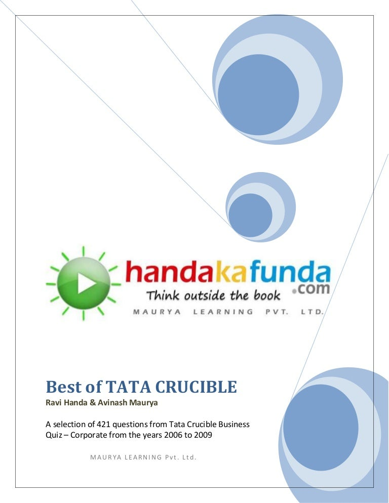 Handa ka funda best of tata crucible fandeluxe Image collections