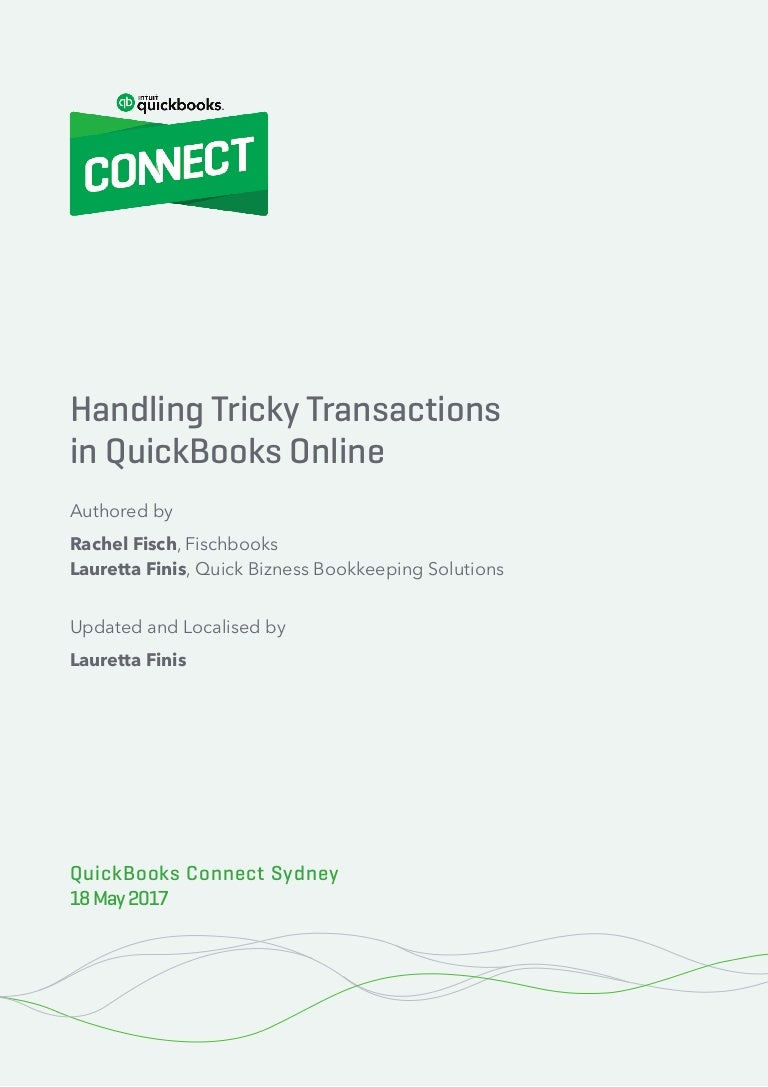 Handbook: Advanced QuickBooks Online - Handling Tricky