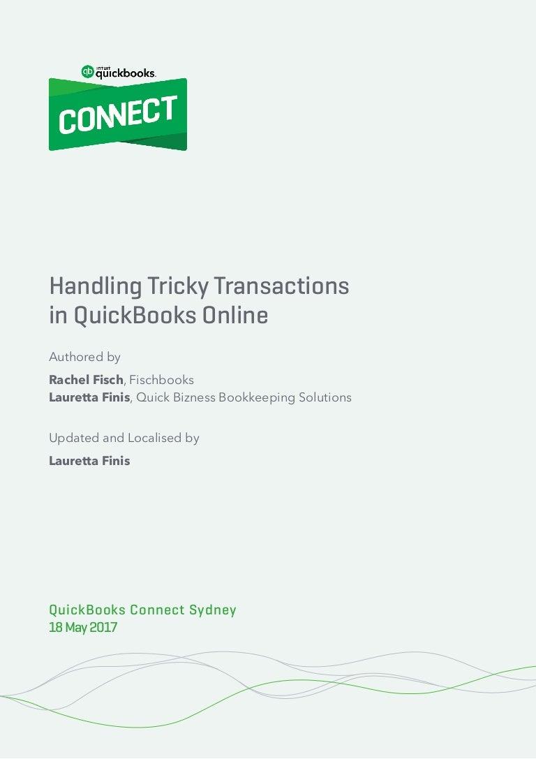 Handbook: Advanced QuickBooks Online - Handling Tricky