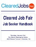Cleared Job Fair Handbook January 21, 2009