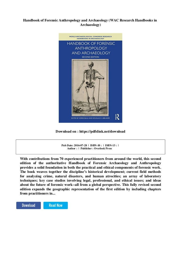 Handbook Of Forensic Anthropology And Archaeology Wac Research Handb