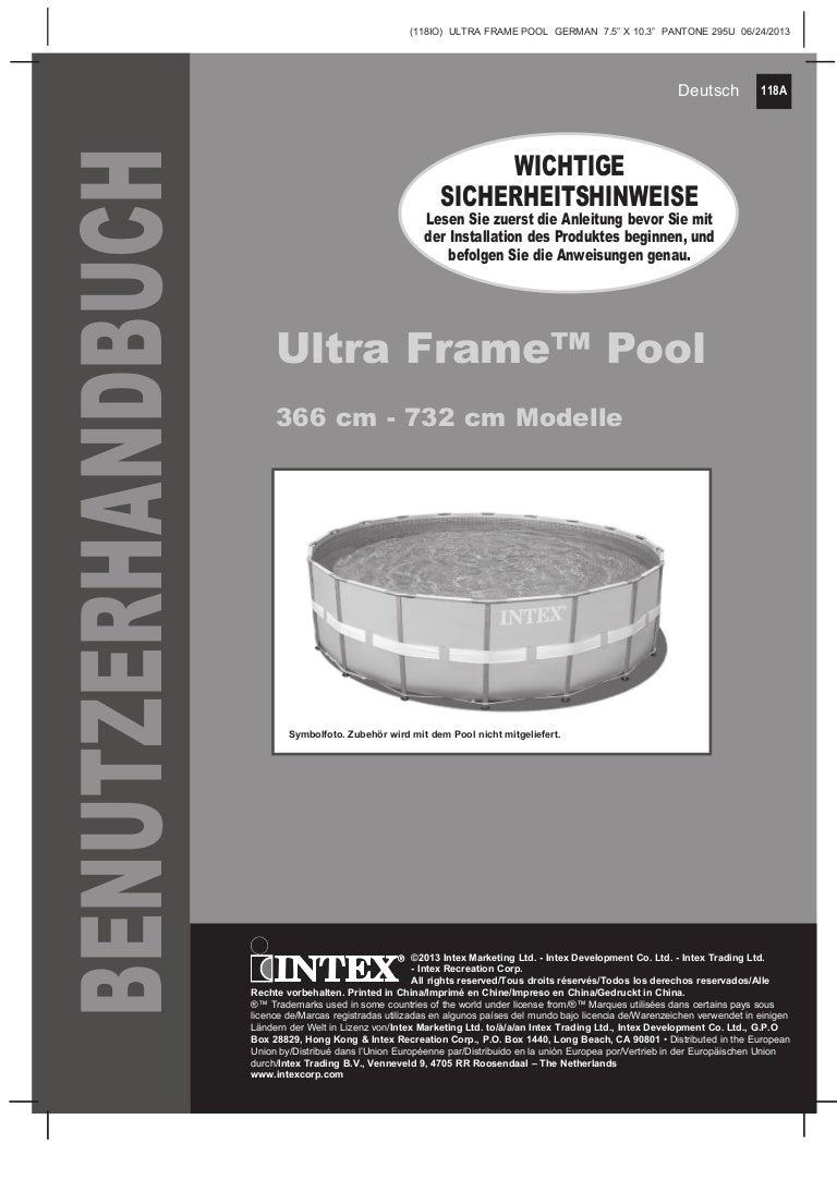 Handbuch ultra-frame-pool - Intex Pool Shop