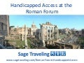 Handicapped Access At The Roman Forum