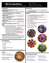 Handout 6th grade alike buddhist mandalas