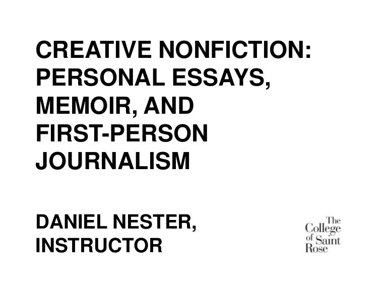 essay on creative nonfiction Her work has appeared in creative nonfiction, river teeth, the nervous breakdown, two hawks quarterly, new plains review, and blue lyra review, among many others her essays have been nominated for a pushcart prize and best of the net and listed in the best american essays 2016 notables.