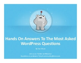 Hands On WordPress SEO Mozinar - June 4, 2013