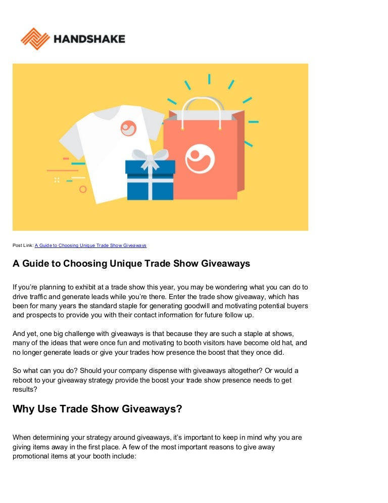 Trade Show Giveaways: Unique Ideas for Exhibitors