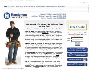 Handyman Services Madison Wi
