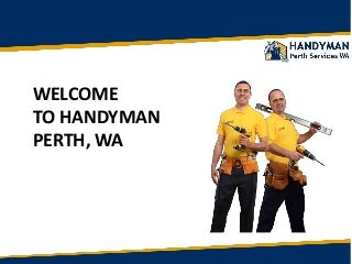 Perth Handyman: Professional Handyman Services Repairs in Perth WA