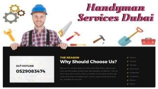 Book Handyman Services Dubai - 529083474