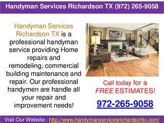 Handyman services richardson tx