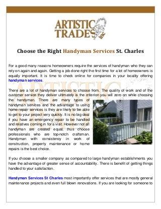 Handyman services st charles