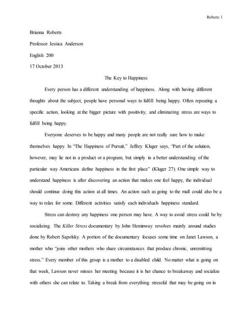 essay on true happiness