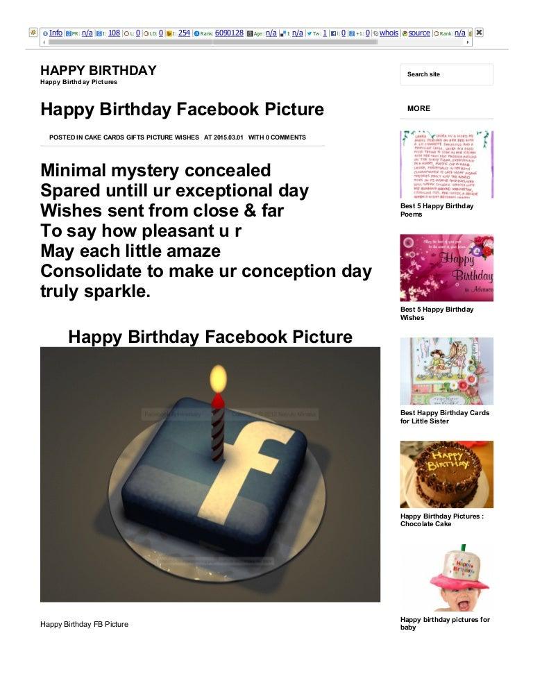 Happy birthday facebook picture happy birthday