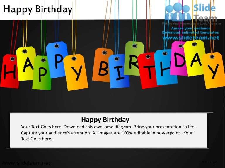 Happy birthday powerpoint ppt slides toneelgroepblik Gallery