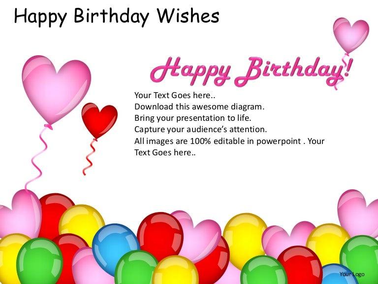 Happy birthday wishes powerpoint presentation templates – Sample Happy Birthday Email