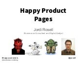 Happy product pages