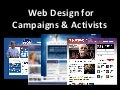 Webdesign for Advocacy and Campaigns