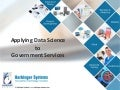 Application of Data Science in Government Services – IPMA Forum 2016 Speaker Session