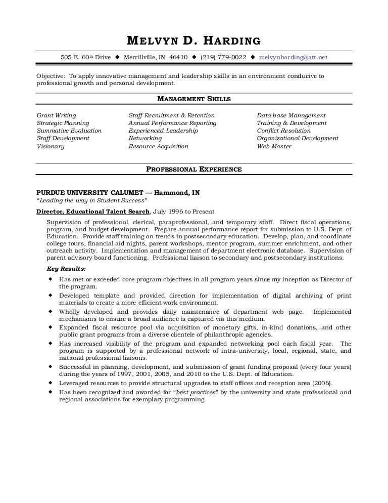 Harding Functional Resume