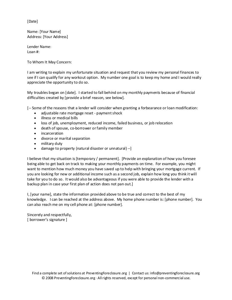Hardship letter sample template – Financial Hardship Letters