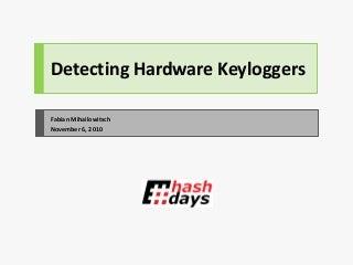 Detectando Hardware keylogger