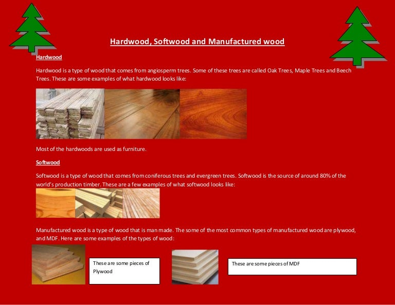 Hardwood Softwood And Manufactured Wood