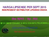 Harga lip sense lipstik - 0812 1234 6675 - by distributor dnova beauty house