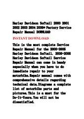 Harley davidson 1999 2000 2001 2002 2003 2004 2005 factory