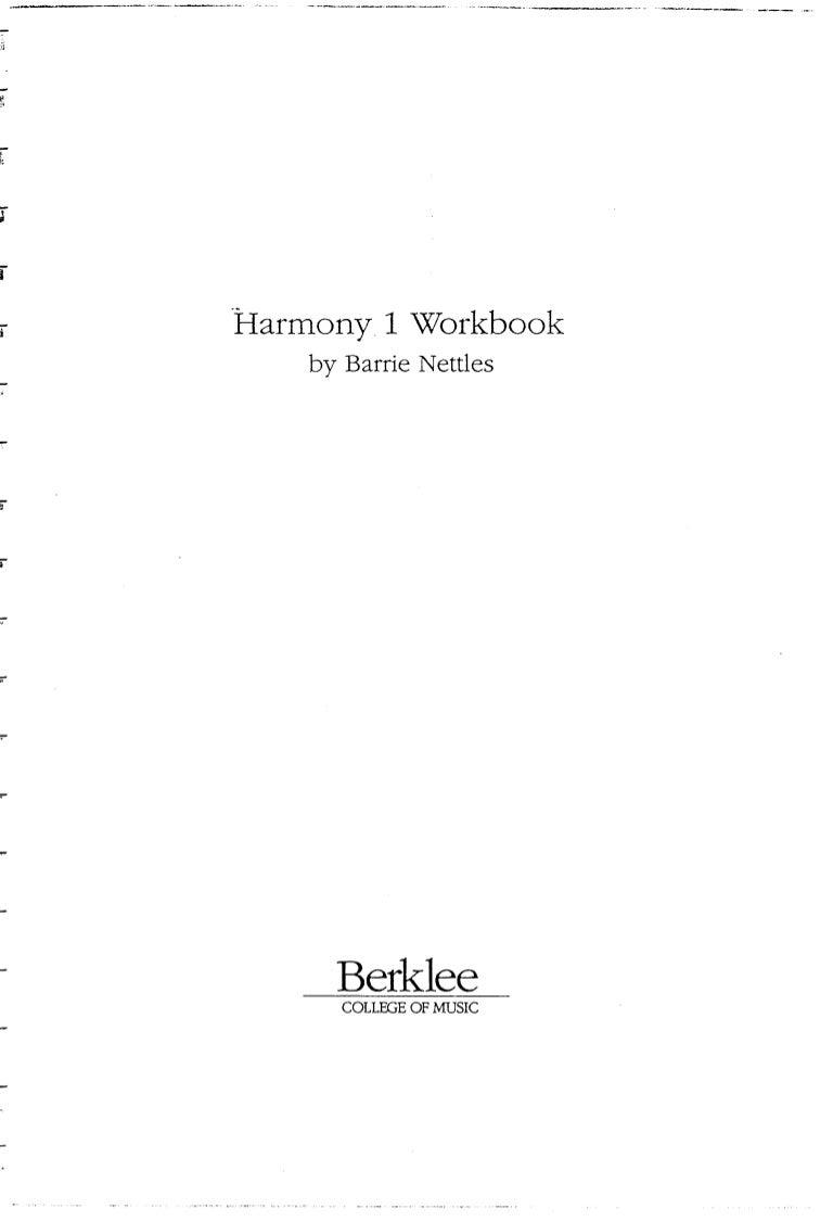 Harmony 1 workbook barry nettles