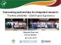 Harnessing partnerships for integrated research the africa rising – esa project experience