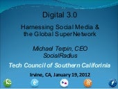 Harnessing social media and the super network   tcosc jan 12